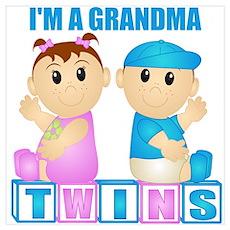 I'm A Grandma (PBG:blk) Wall Art Poster