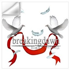 Breakingdawn White Doves Ribb Wall Art Wall Decal
