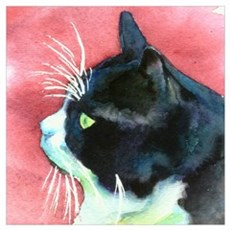 Tuxedo Cat Wall Art Canvas Art