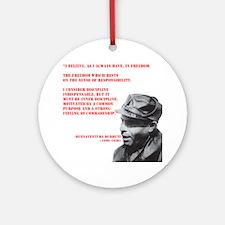 Durruti Freedom Ornament (Round)