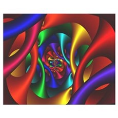 """Color 2"" Fractal Art Wall Art Framed Print"