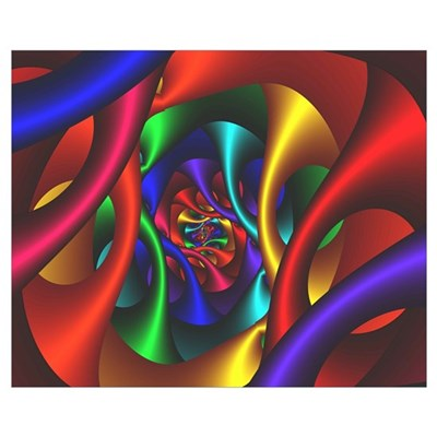"""Color 2"" Fractal Art Wall Art Poster"