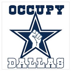 Occupy Dallas Wall Art Framed Print