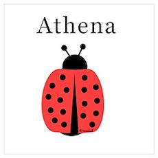 Athena - Ladybug Wall Art Poster