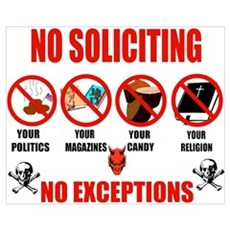 No Solicitors Wall Art Canvas Art