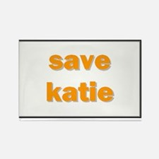 Save Katie Rectangle Magnet