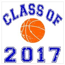 Class Of 2017 Basketball Wall Art Poster