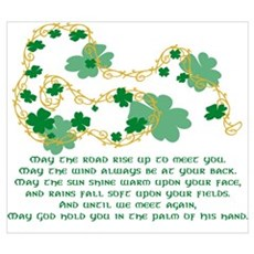Irish Blessing Wall Art Poster
