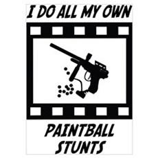 Paintball Stunts Wall Art Poster