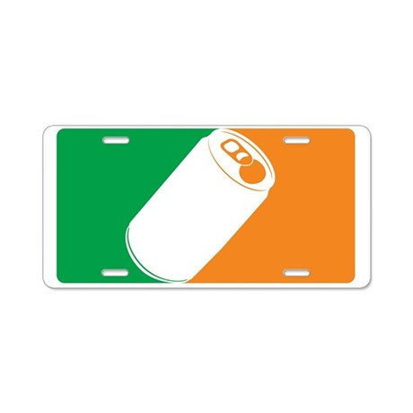 Major League Irish Aluminum License Plate