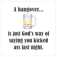 Hangover Wall Art Poster