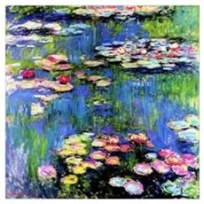 MONET WATERLILLIES Wall Art Canvas Art
