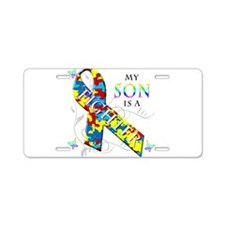 My Son is a Fighter Aluminum License Plate