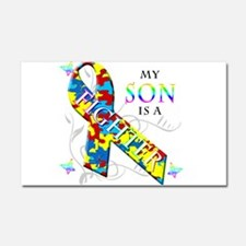My Son is a Fighter Car Magnet 20 x 12