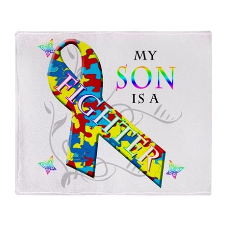 My Son is a Fighter Throw Blanket