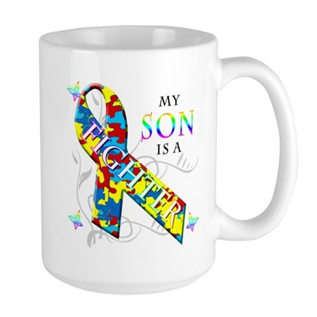 My Son is a Fighter Large Mug