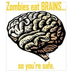 Zombies Eat Brains Wall Art Poster