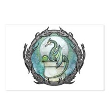 Green Dragon Fantasy Art Postcards (Package of 8)