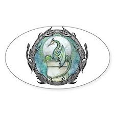 Green Dragon Fantasy Art Decal