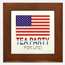 Tea Party Framed Tile