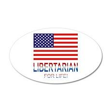 Libertarian 22x14 Oval Wall Peel
