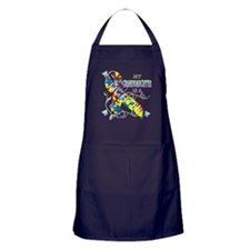 My Granddaughter is a Fighter Apron (dark)