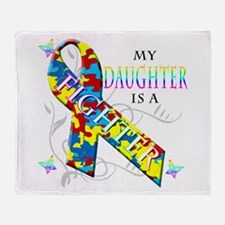 My Daughter is a Fighter Throw Blanket