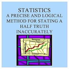 Funny statistics joke Wall Art Poster