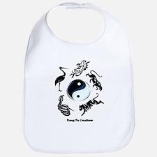 5 animal Kung Fu logo Bib