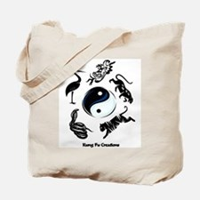 5 animal Kung Fu logo Tote Bag