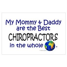 Best Chiropractors In The World Wall Art Poster