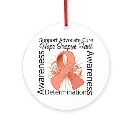 Uterine Cancer Hope Inspiring Ornament (Round)
