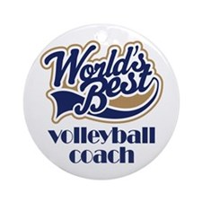 Volleyball Coach Gift (World's Best) Ornament (Rou