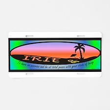 Irie / Aluminum License Plate