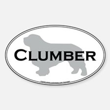 Clumber Oval Decal