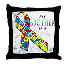 My Brother is a Fighter Throw Pillow
