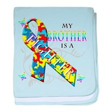 My Brother is a Fighter baby blanket