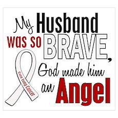 Angel 1 HUSBAND Lung Cancer Wall Art Poster