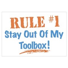 Toolbox Rules Wall Art Poster