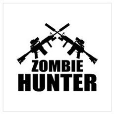 Zombie Hunter Wall Art Framed Print