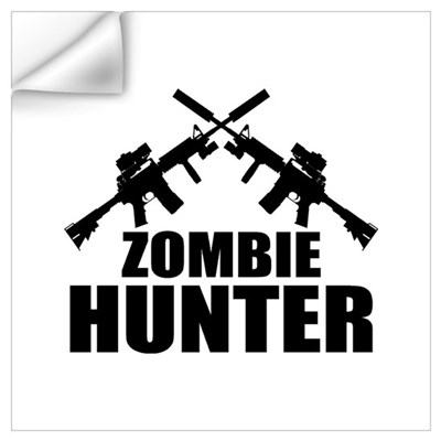 Zombie Hunter Wall Art Wall Decal