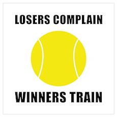Tennis Winners Train Wall Art Poster