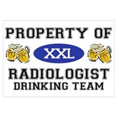 Property of Radiologist Drinking Team Mini Poster Framed Print