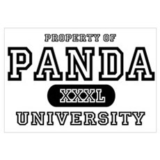 Panda University Wall Art Framed Print