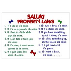 Saluki Property Laws 2 Wall Art Canvas Art