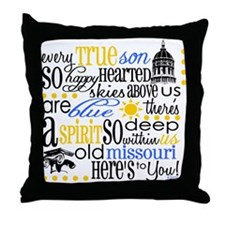 mizzou Throw Pillow