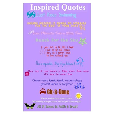 Inspired Quotes Wall Art Poster