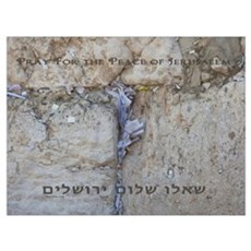 Pray For Jerusalem Wall Art Poster