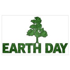 Earth Day Tree Wall Art Poster