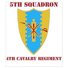 DUI - 5th Sqdrn - 4th Cavalry Regt with Text Mini Framed Print